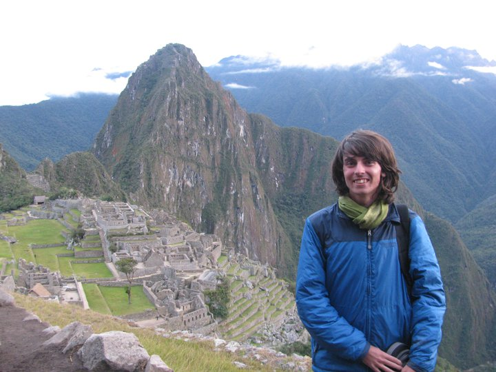 Dai Davies at Machu Picchu in Peru