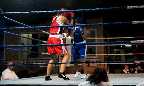 Evelyn boxing